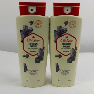 OLD SPICE EXFOLIATE CHARCOAL BODY WASH NEW.